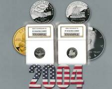 2004 S JEFFERSON 5c  NGC PF 70 Ultra Cameo 2 coins set