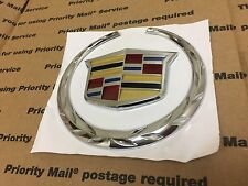 NEW CADILLAC FRONT GRILL GRILLE HOOD LOGO BADGE EMBLEM ORNAMENT SYMBOL CHROME 4""