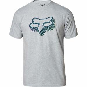 Fox Racing Héritage T-Shirt Polo Shirt-Heather Bleu Marine Toutes Les Tailles