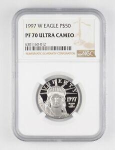 PF70 UCAM 1997-W $50 American Platinum Eagle - 1/2 Oz .999 Platinum - NGC *4964
