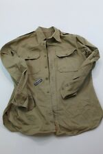 U.S. Army Khaki 8.2 Oz Cotton Shirt Medium Long Sleeve