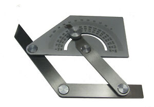 RDGTOOLS STAINLESS STEEL SQUARE BEVAL PROTRACTOR