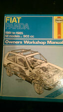 Fiat Panda  workshop manual Haynes 793  1981 to 1985