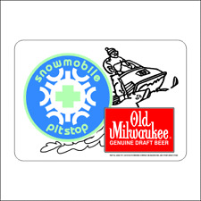 Vintage Reproduction Old Milwaukee Snowmobile Beer Decal