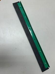 "Unger Heavy Duty Floor Squeegee, 18"" Blade, Green/Black Rubber"