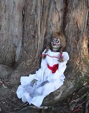 ANNABELLE HAUNTED HALLOWEEN HORROR PUPPET DOLL CONJURING 2 JAMES WAN CREATION