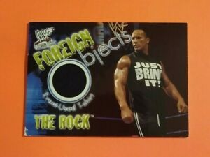 2001 Fleer WF Wrestlemania The Rock Foreign Object card EX
