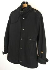 G- Star Raw Mens Garber Wool Trench Jacket / Coat Size Medium Original : JA103