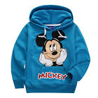 Cute Kids Baby Girls Boys Mickey Minnie Mouse Top Hooded Sweatshirt Pullover Tee