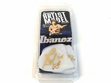 Ibanez Guitar Picks  Steve Vai Signature  White Rubber Grip  Heavy  6 Pack