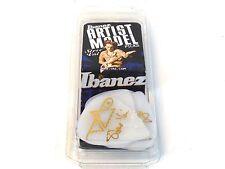 Ibanez Guitar Picks  Steve Vai Signature  White Rubber Grip  Heavy  6 Pack