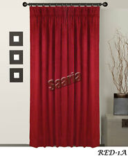 Saaria Velvet Pinch Pleated Curtains Home Decor Theater Stage Backdrops 6'Wx8'H