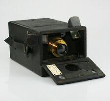 HOUGHTON 'Shuttle' Magazine Camera c.1898 w/ Brass Lens - HIGHLY SCARCE (ZZ52)
