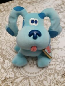 "Blues Clues Plush Dog With Note Book 10"" 1998 EDEN Viacom"