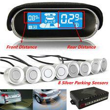 12V Double LCD Display 8 Sensor Dual-core Car Reverse Parking Radar Alarm System