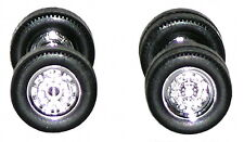 Herpa Promotex  2 Chrome Tractor Wheelset, 2 Front axles 4 Rear axles 1/87