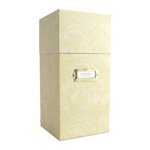 """Anna Griffin 12"""" Embossing Folder and Plate Storage Box Ivory Damask NEW"""