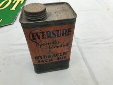VINTAGE CLASSIC CAR EVERSURE HYDRAULIC JACK OIL GARAGE DISPLAY ADVERTISING TIN