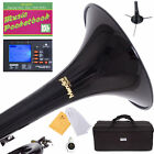 MENDINI Bb TRUMPET ~BLACK LACQUERED FOR CONCERT BAND +TUNER+STAND+CARE KIT+CASE