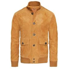 Timberland Men's Nubuck Leather Suede Bomber Jacket New A1RJ5 L RRP - $550
