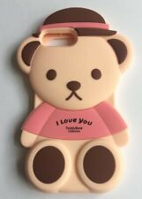 NEW Cute 3D Teddy Bear Silicone Phone Case Cover iPhone 6G / 7G / 8G FREE P&P