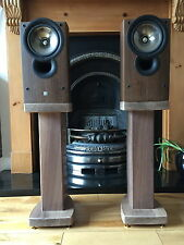 Solid Walnut Wood Speaker Stands RC60 Deluxe, Custom Audio Visual Furniture