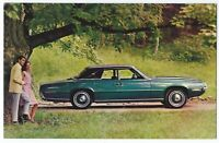 1968 Ford THUNDERBIRD 4-DOOR LANDAU Original Dealer Promo Postcard UNUSED VG+ ^