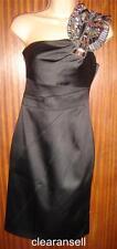 KAREN MILLEN BLACK SATIN JEWEL DRESS DM029 NWT  SIZE 6UK/34EU