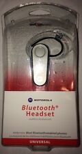 Motorola Universal Bluetooth Silver Ear-Hook Headsets MBT385Z Verizon