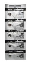 10 Pcs Energizer 321 SR616SW Low Drain 1.55V Silver Oxide Batteries