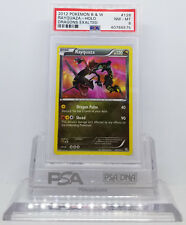 Pokemon DRAGONS EXALTED RAYQUAZA #128/124 SECRET RARE HOLO FOIL PSA 8 NM-MINT #*