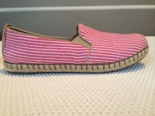 Women's BORN Pink Canvas Slip-on Shoes Size 6.5M