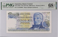 Argentina 5000 Pesos ND 1977-1983 P 305 b Superb Gem UNC PMG 68 EPQ Top Pop