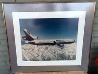 "VTG McDonnell Douglas MD-11 25 x 29"" McAir Test Flight Framed Photo Jet Aviation"