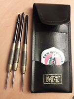 Vintage Set of M.Y. Brass Darts  +  Flights 18gms VGC