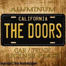 THE DOORS Metal Aluminum Vanity Car Truck Vintage License Plate Tag New