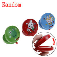Children musical percussion instrument xmas gift cartoon wooden castanet toy JR