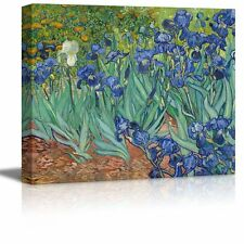 "Irises by Vincent Van Gogh - Oil Painting Reproduction on Canvas - 16"" x 20"""