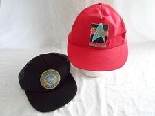 Lot of 2 Star Trek United Federation of Planets Starfleet HQ Cap Hat Snapback
