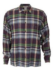 Men's ISSEY MIYAKE COTTON LABEL Plaid Button Shirt Japan Multicolor Designer Vtg