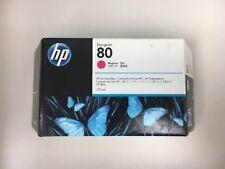 HP 80 Ink Magenta C4874A New Genuine 175ML Factory Sealed Box Date: JAN 2019