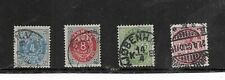 Denmark 1875-1885. Selection Of 4. Used. As Per Scan