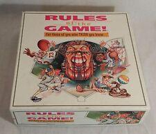 Board Game Rules of the Game Sports Trivia 1995 Baseball Football Basketball