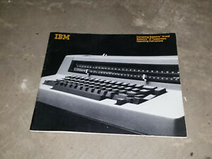 IBM Correcting Selectric III and Selectric III Typewriters Operating Instruction