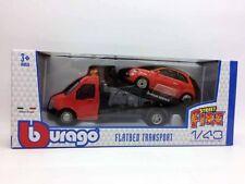 BBURAGO 1:43 Carro attrezzi con FIAT 500 ROSSO