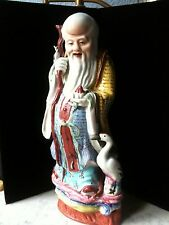 19th Century Famille Rose Chinese Porcelain Shou Lao