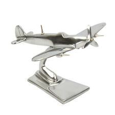 More details for aluminum spitfire sculpture plane trench art desk model 15cm