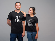 The Boss The Actual Boss Matching Couple Tshirt Unisex Wedding Gender Neutral