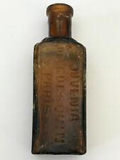 """Antique Vintage Glass bottle 1800's  """"JUVENIA DE GUESQUIN PARIS"""""""