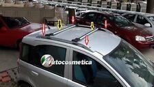 2 Barre Longitudinali Tetto Colore Argento + 2 trasversali Fiat Panda 03-12
